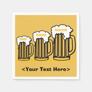 Beer Mugs Personalized Party Napkins Paper Napkin