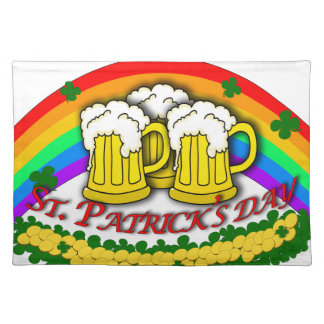 Beer mugs placemat