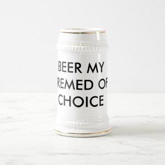 BEER MY PREMED OF CHOICE BEER STEIN