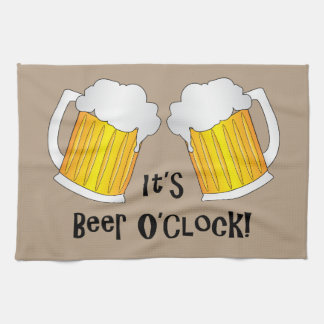 Beer O'Clock Funny Birthday Party BBQ Towel