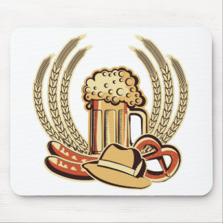 Beer Oktoberfest Graphic Mouse Pad
