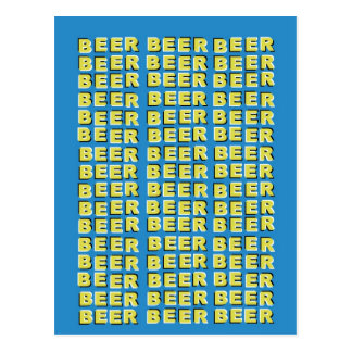 BEER OPTICAL ILLUSION POSTCARD
