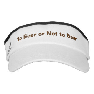 Beer or not Funny Quote Custom Knit Visor, White Visor