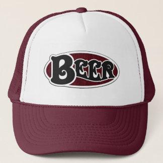 Beer Oval - Wood Grain Look Trucker Hat
