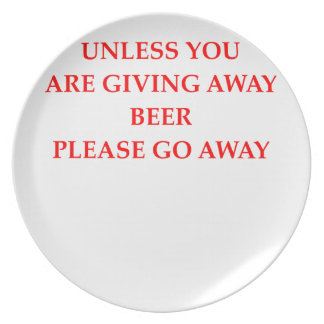 beer party plates