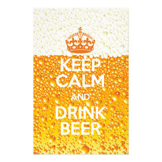 Beer Personalized Stationery