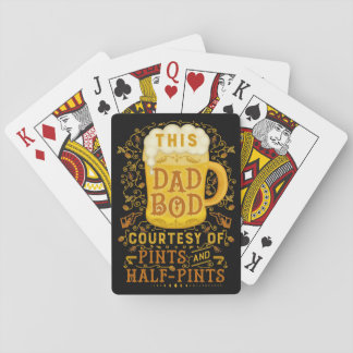 Beer Pints Funny Dad Bod Fathers Day Antique Poker Deck
