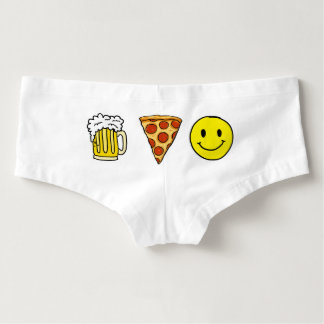 Beer Pizza Happiness Hot Shorts