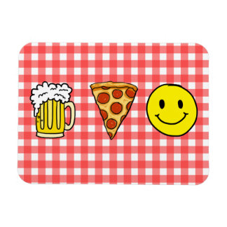 Beer Pizza Happiness Magnet