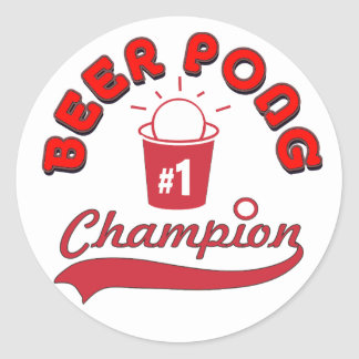 Beer Pong Award Classic Round Sticker