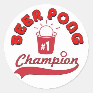 Beer Pong Award Round Sticker