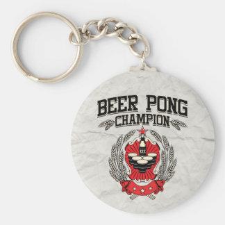 Beer Pong Champion Key Chain