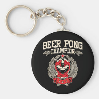 Beer Pong Champion Keychains