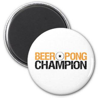beer pong champion refrigerator magnet