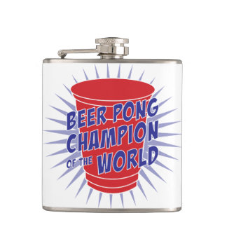 Beer Pong Champion of the World bottle flask