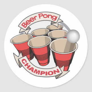 Beer Pong Champion Stickers