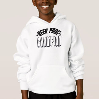 Beer Pong Champion White Hoodie