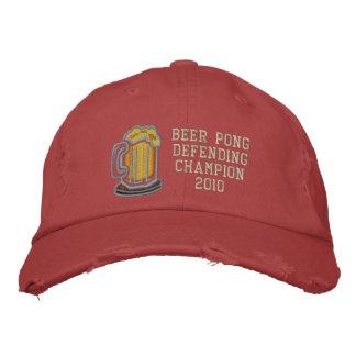 Beer Pong Defending Champion Embroidered Hat