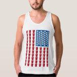 Beer Pong Drinking Game American Flag Tanks
