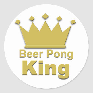 Beer Pong King #2 Classic Round Sticker