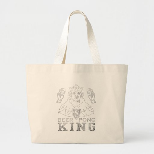 Beer Pong King Jumbo Tote Bag