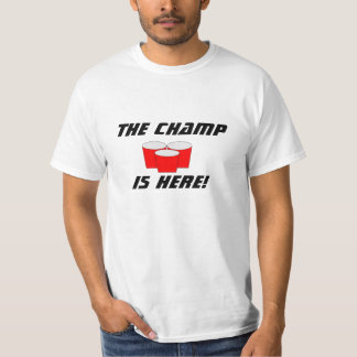 beer pong, The Champ, Don't Bounce T-Shirt