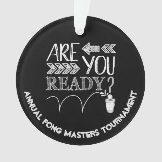Beer Pong Tournament CHAMPS | Chalk Typography Ornament