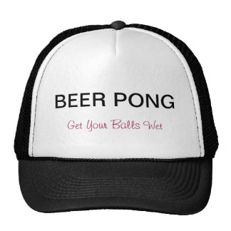 Beer Pong Truckers Hat