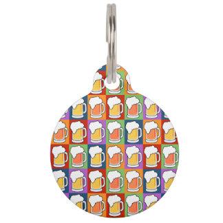 BEER Pop Art custom pet tags