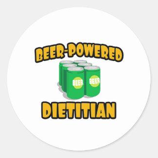 Beer-Powered Dietitian Round Sticker