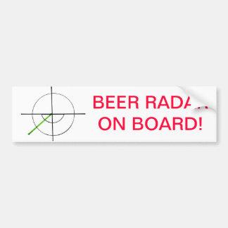 Beer Radar on board! by jokeapptv tm Bumper Sticker