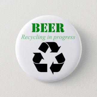 Beer recycling in process button