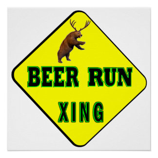 Beer Run Crossing Poster