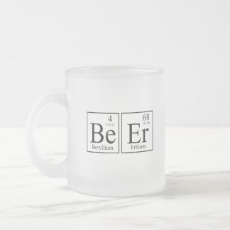 Beer Science Frosted Glass Coffee Mug