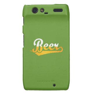 Beer script logo simple droid RAZR cases
