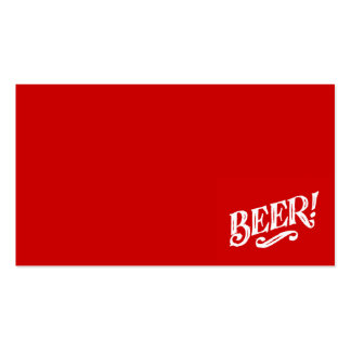 BEER SHOUTOUT RED WHITE BAR BEVERAGE ALCOHOLIC LOG BUSINESS CARD TEMPLATES