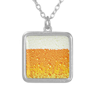 beer snob silver plated necklace
