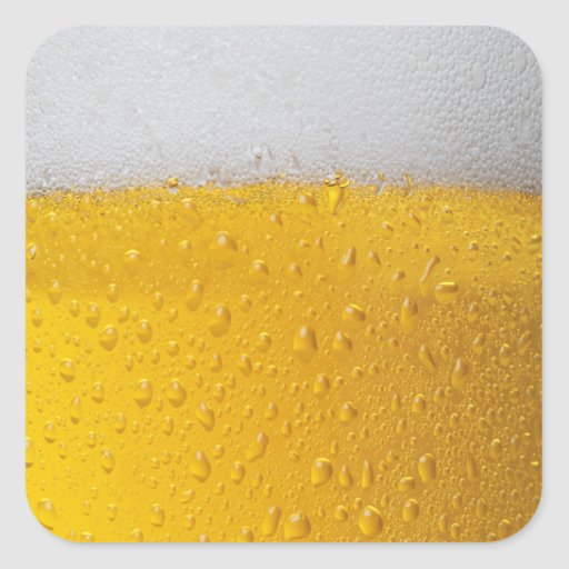 Beer Square Sticker