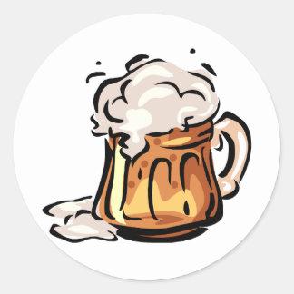 Beer Stein for Octoberfest Classic Round Sticker