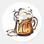 Beer Stein for Octoberfest Round Sticker