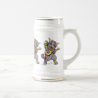 Beer Stein: Musical Cats by Louis Wain Beer Stein