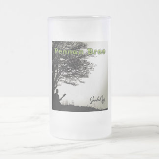 Beer Stein; Pennan Brae's 'Shaded Joy' 16 Oz Frosted Glass Beer Mug