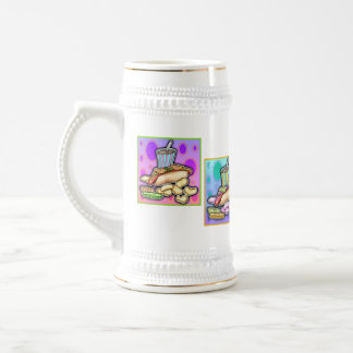 Beer, Stein - Pop Art Hot Dog with Chips and a Dri