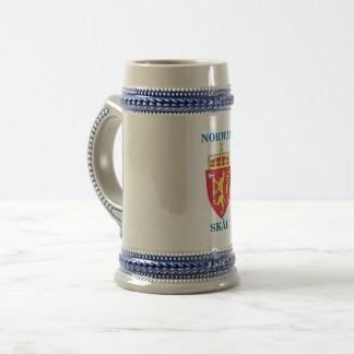 Beer Stein w/ Norwegian Crest and SKÅL!