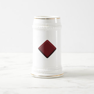 Beer Stein With Maroon Squares