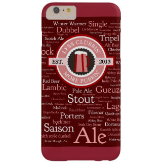 Beer Styles Burgundy iPhone 6/6s Plus Case Barely There iPhone 6 Plus Case