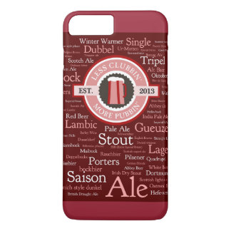 Beer Styles Burgundy iPhone 7 Plus Case