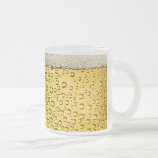 Beer Suds Bubbles Frosted Glass Mug