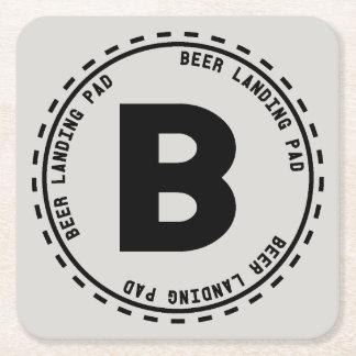 Beer Tasting Funny Beer Landing Square Paper Coaster