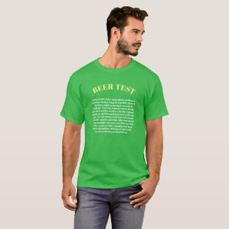BEER TEST Can You Read This St Patrick's Day Shirt